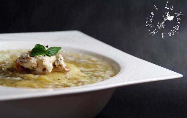 Ravioles au Poulet, Tomates Séchées & Mascarpone