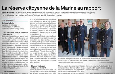 Au sein de la réserve citoyenne de la Marine (Ouest France)