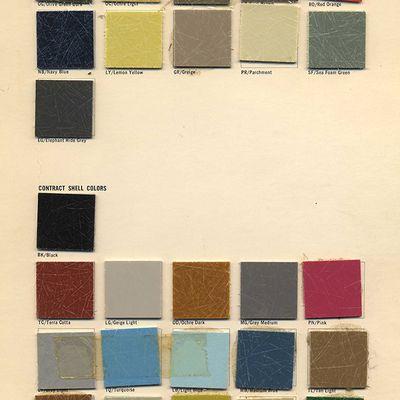 Précieux document sur les couleurs officielles EPC en 1965