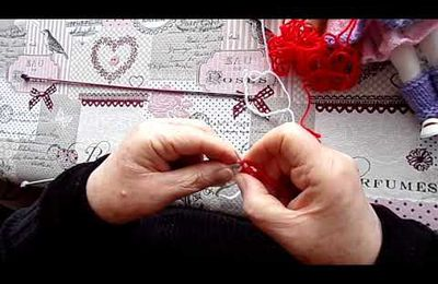 tuto video : comment fixer une bordure sur un tricot sans la coudre