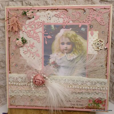 Carte shaby chic style ancien