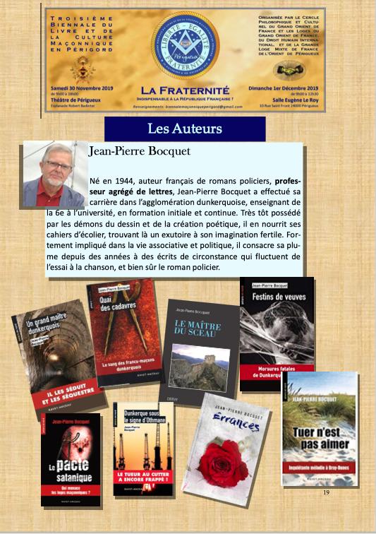 Périgueux : 3° Biennale du Livre et de la Culture Maçonnique