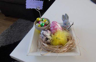 Voici ma petite déco pour Pâques...