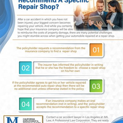 When Insurance Companies Can Recommend A Specific Repair Shop?