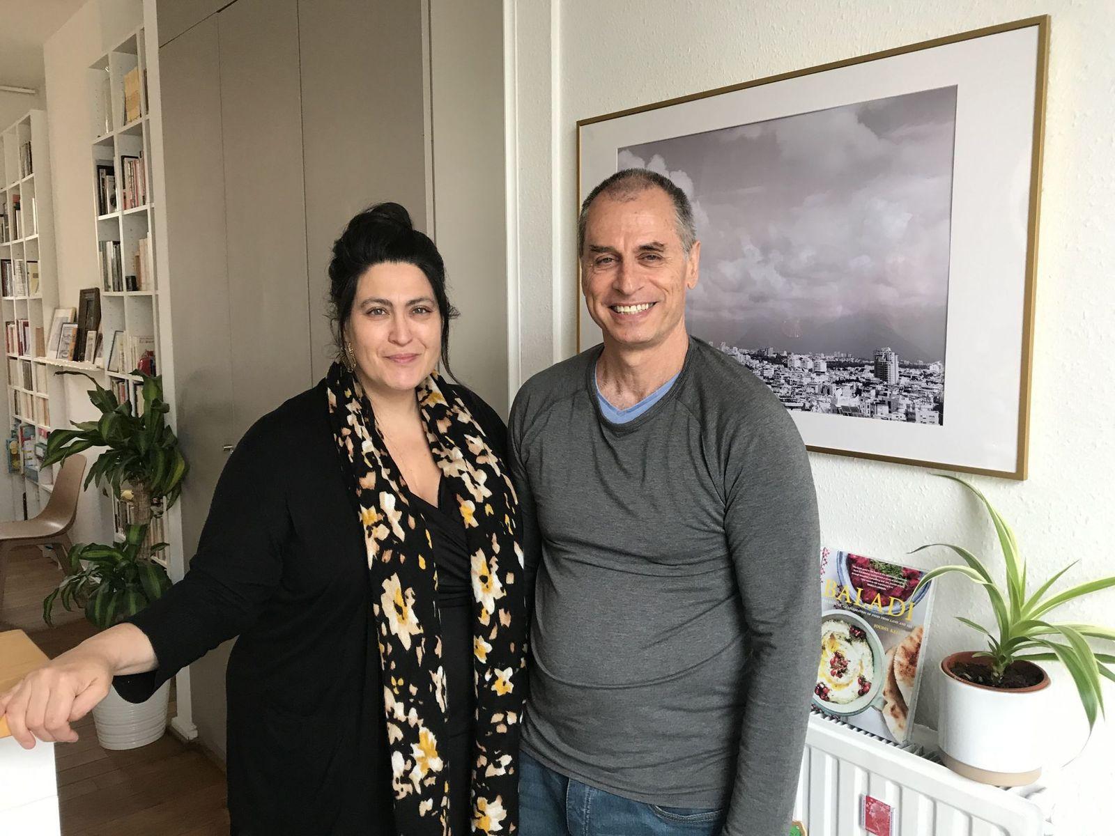 Eleonore Merza Bronstein et son compagnon Eitant Brosntein Aparicio
