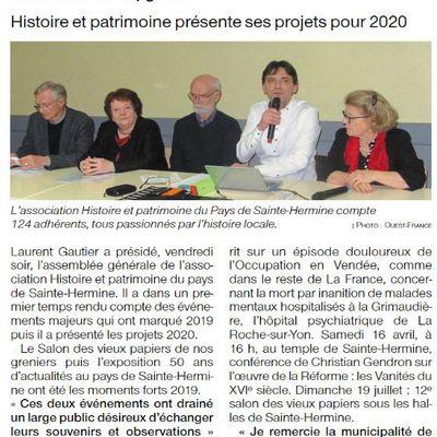 Revue de presse Février 2020