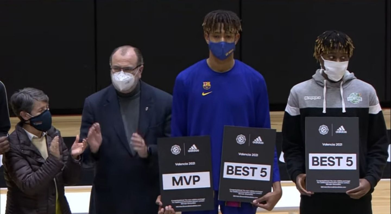 Michael Caicedo élu MVP de l'ANGT de Valence
