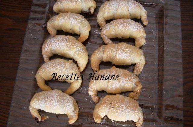 Croissants banane chocolat