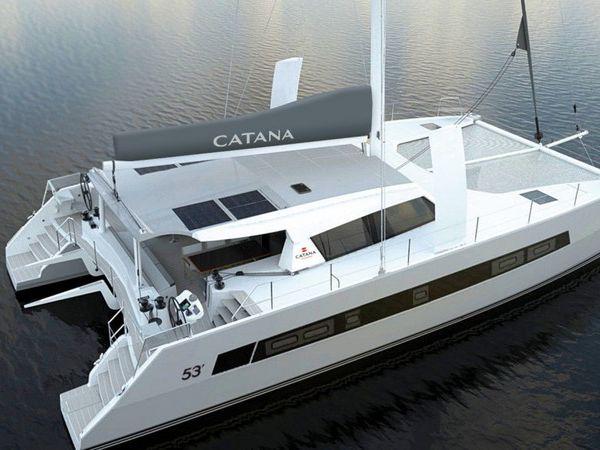 Scoop - premières images du catamaran Catana 53, entre sport, luxe et grand voyage