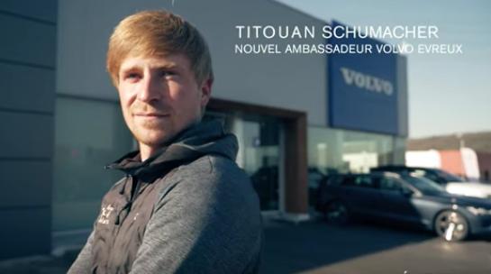 Titouan Schumacher ambassadeur Volvo Evreux
