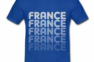 T shirt France Logo en dégradé HBR