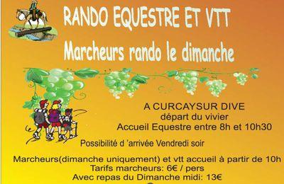Rando de la Bernache à Curcay-sur-Dive (86) les 8 et 9 octobre 2016