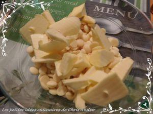 Fondant au chocolat blanc et framboise
