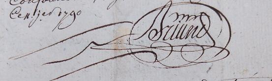 Signature de BRIAND, concierge des prisons de Rennes