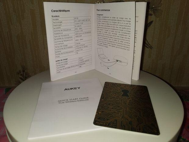 unboxing des écouteurs intra-auriculaires True Wireless - Aukey EP-T20 @ Tests et Bons Plans