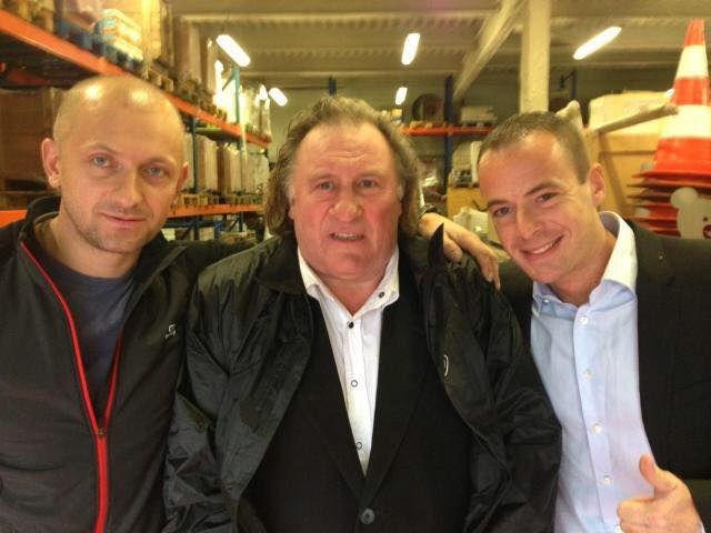 Pierre Malinowski avec Gérard Depardieu, 27 novzembre 2014, (c) Facebook/Marc Rylewski