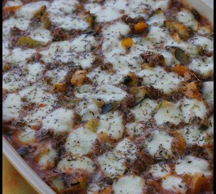 Gratin provençal à la mozzarella