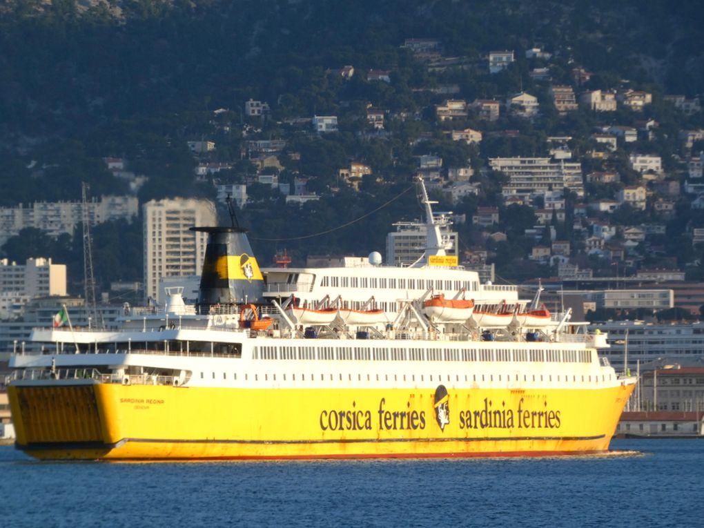Sardignia Régina , arrivant au port de Toulon le 27 janvier 2021
