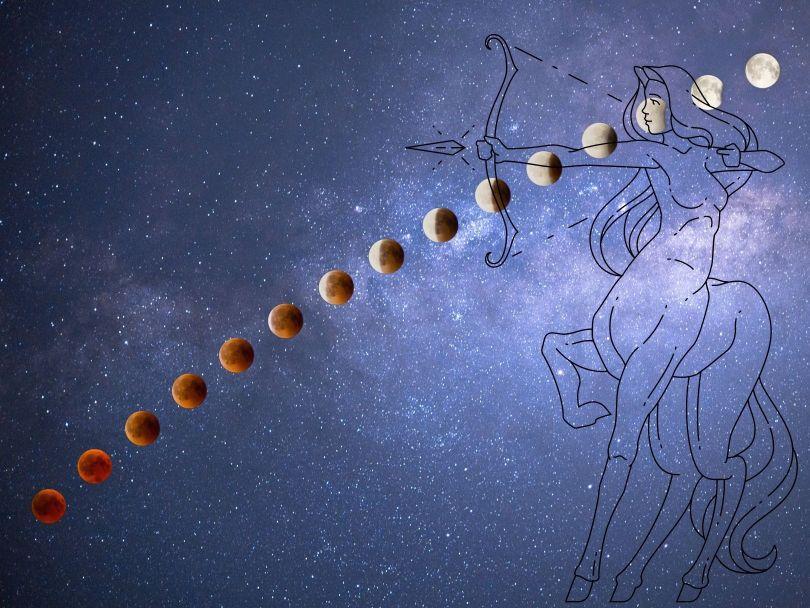 Astrologie intuitive : pleine lune de sang en Sagittaire, avec éclipse totale le mercredi 26 Mai 2021