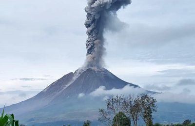 Activity of Sinabung, Pacaya, La Fournaise and La Soufrière.