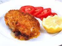 Cordon - Bleu - Revisité - Oignons - Mimolette - Sauce - Tomate - Astuce - Acidité - Recette - Repas - Plat - Poulet - Cuisine