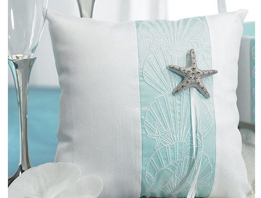 Coussin d'alliances mer