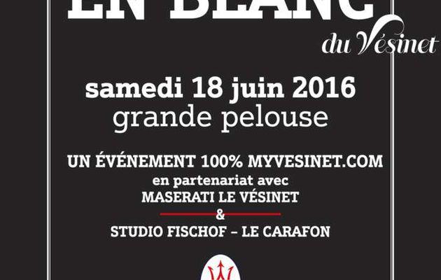 3ème édition du diner en blanc au Vésinet : 18 juin 2016 à 20h30