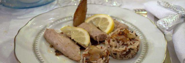Plat de Noel à 2.50€ : aiguillettes de canard marinées au citron, huile de sésame et zestes de combawa