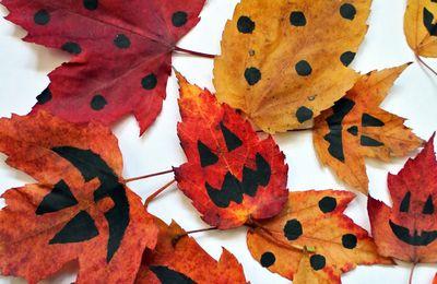 Bricolages: Feuilles décoratives d'Halloween MS-GS-CP-CE1-CE2-CM1-CM2