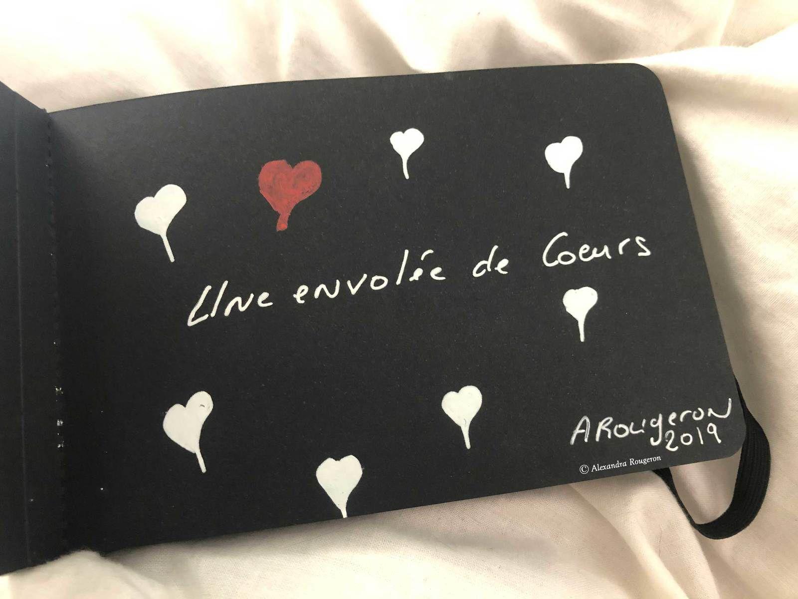 Une envolée de cœurs