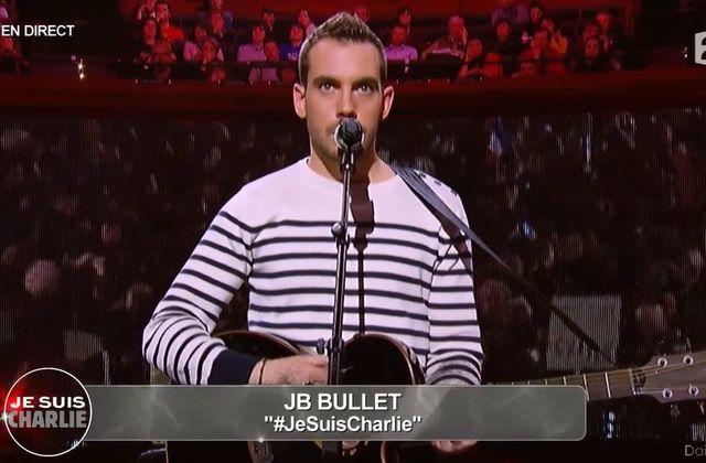JB Bullet interprète Je suis Charlie en direct sur France 2 (Vidéo).