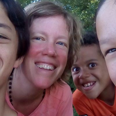 En famille, sur le Camino.