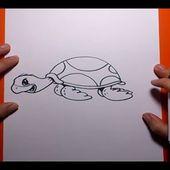 Como dibujar una tortuga paso a paso 2 | How to draw a tortoise 2