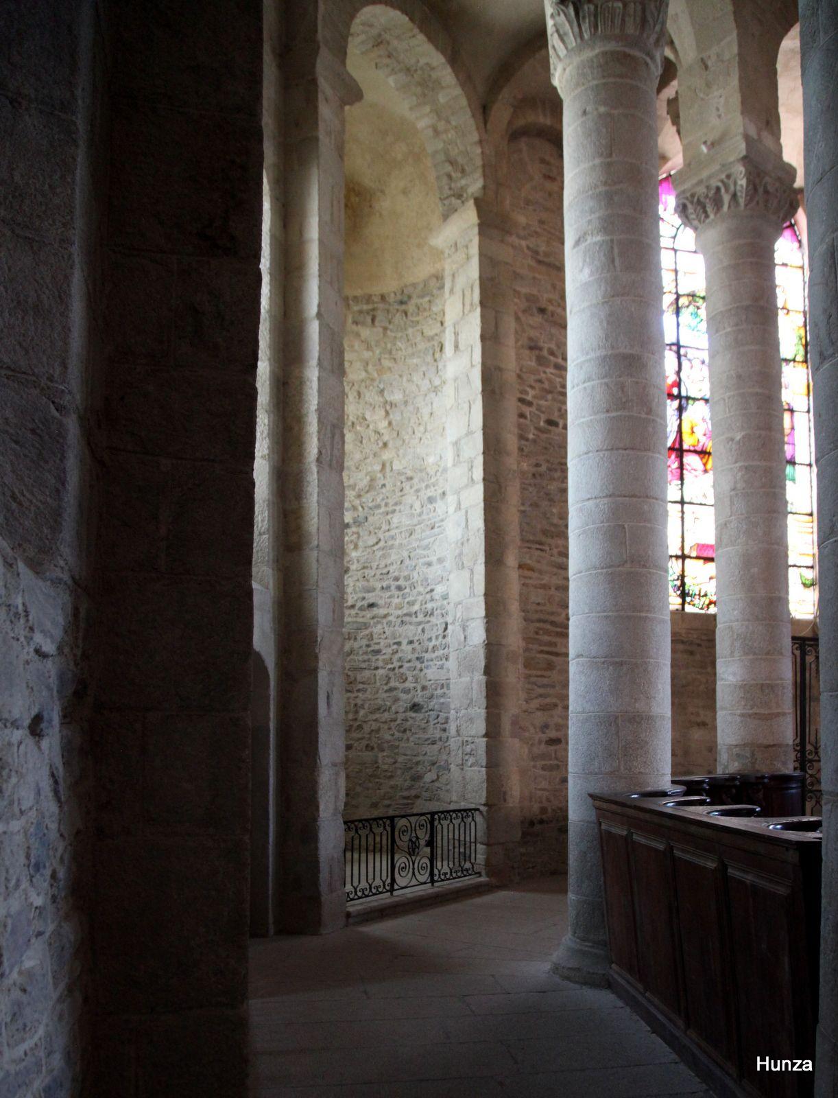Uzerche, déambulatoire de l'abbatiale Saint-Pierre