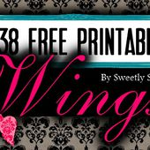Sweetly Scrapped: 138 Different Free Printable Angel Wings