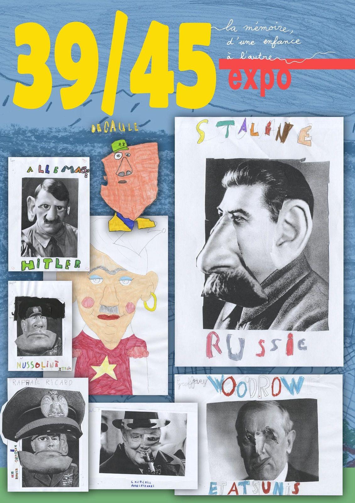 39-45, la mémoire, d'une enfance à l'autre : exposition et vidéo conçue pour l'école Jean Zay de Ham (80400)