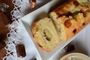 Cake banane caramel au beurre salé Jours Heureux - #partenariat