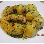 Aiguillettes de poulet et pommes de terre à la moutarde - www.sucreetepices.com