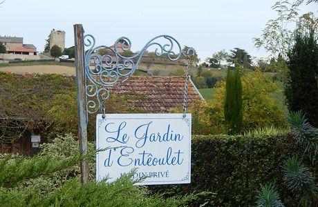 le jardin d'Enteoulet, dans le Gers