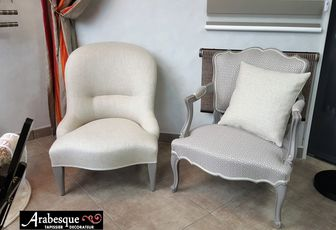 refection de fauteuils arabesque