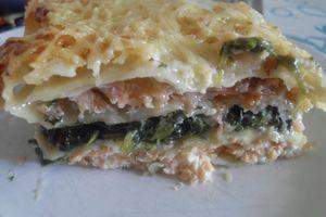 Lasagnes aux deux saumons et aux épinards