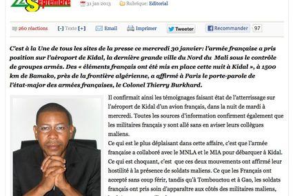 Une voix malienne divergente ? - Chahana Takiou s'interroge sur les complaisances d'Hollande