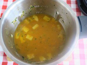 Velouté de potiron et oignon grillé, M. Cuisine ou pas