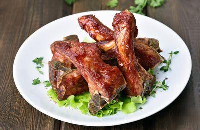 Travers de porc 🐷🐽🐖au miel 🍯 et au gingembre