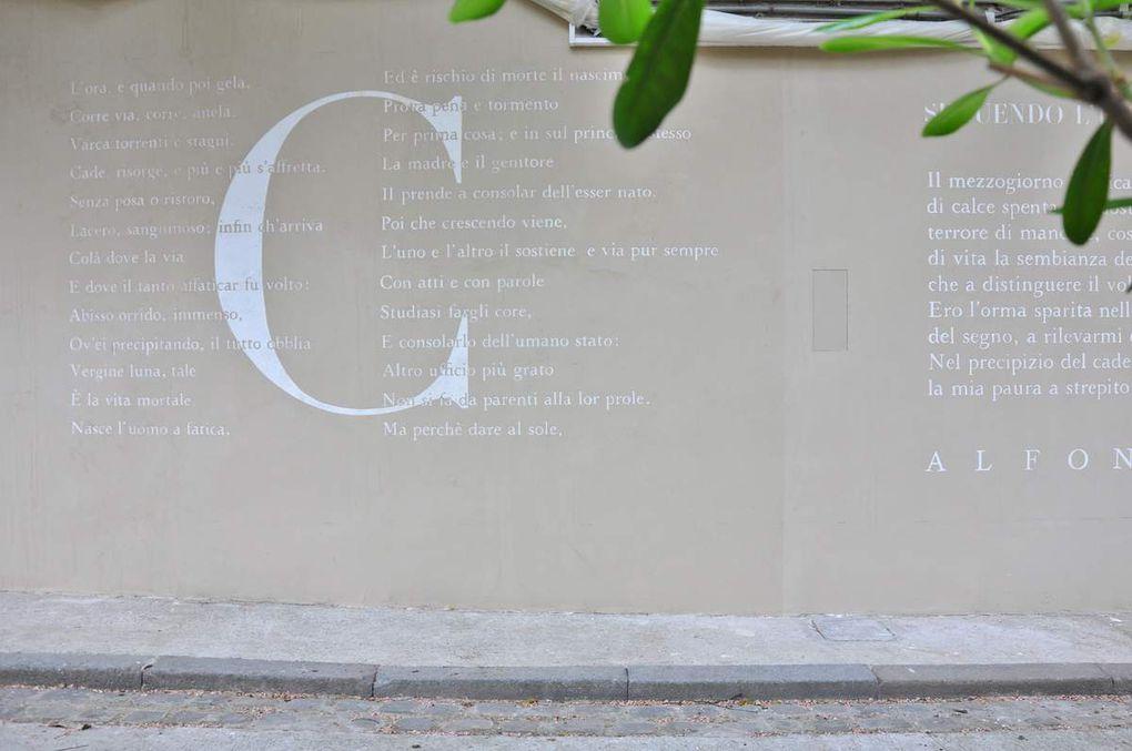 Le mur en attente de mots, inauguration jeudi 26 mai à 18 h à l'Institut culturel italien