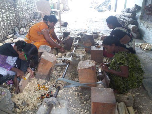"A Wardha en Inde, le ""Centre d'artisanat Guy & Greet Barthélemy - les Mains Créatives"""