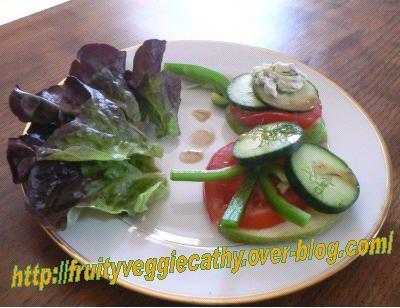 Salade composée à la pomme Granny Smith