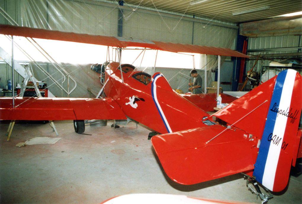 Le Léopoldoff L-55 N°4 F-PLMB basé également à Saint Junien. Avant, il était gris.