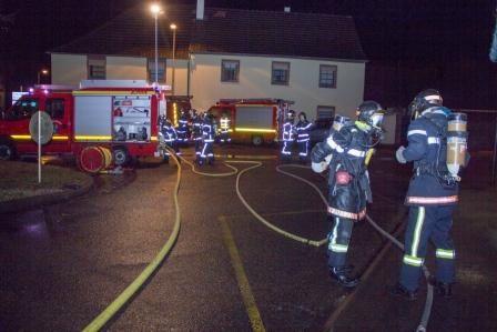 Les pompiers de Balgau et Nambsheim en manoeuvre