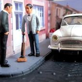 FASCICULE N°60 DIORAMA SIMCA ARONDE CHATELAINE RN7 MARCHAND DE COMMERCE IXO 1/43. - car-collector.net